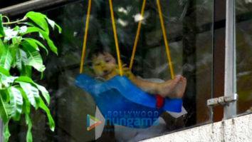 Taimur Ali Khan spotted enjoying on his swing