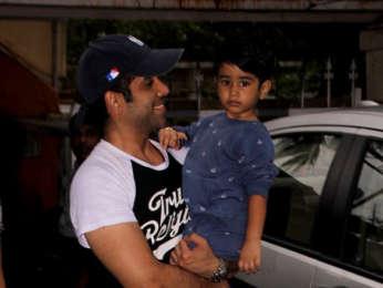 Tusshar Kapoor snapped at his son Laksshya's school