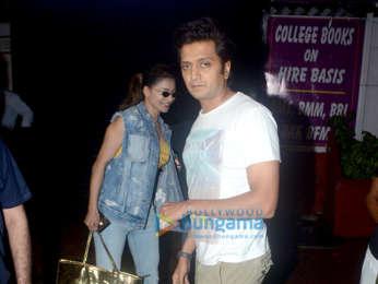 Urvashi Rautela and Ritesh Deshmukh spotted at Bastian in Bandra
