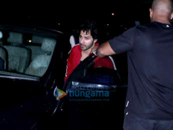 Varun Dhawan spotted at a clinic