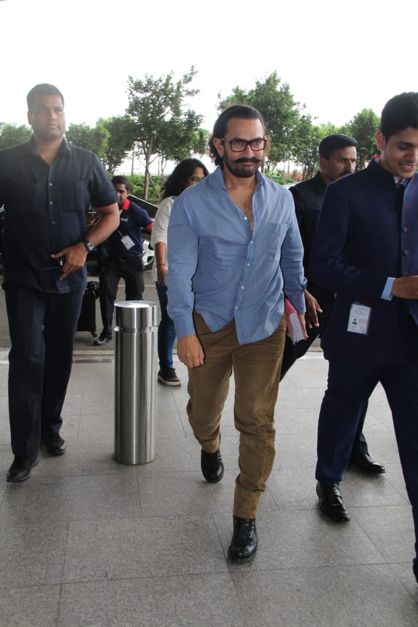 Aamir Khan, Vaani Kapoor and Madhur Bhandarkar spotted at the airport