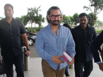Aamir Khan, Vaani Kapoor and Madhur Bhandarkar spotted at the airport