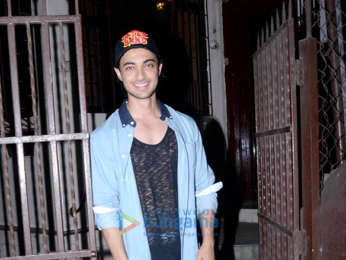 Aayush Sharma snapped at a dubbing studio in Bandra