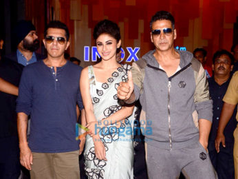 Akshay Kumar, Mouni Roy and Ritesh Sidhwani grace the IMAX trailer and poster launch of Gold