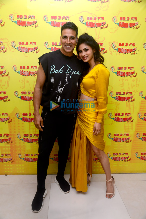 Akshay Kumar and Mouni Roy promote their film 'Gold' at 98.3 FM Radio Mirchi office
