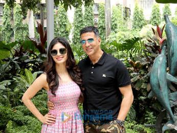 Akshay Kumar and Mouni Roy snapped in Kolkata