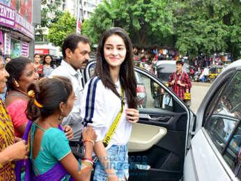 Ananya Pandey and Sara Ali Khan snapped at Bastian in Bandra