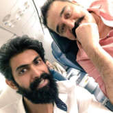 Bahubali star Rana Daggubati bumps into Ulaganayakan Kamal Haasan and here's what happened!