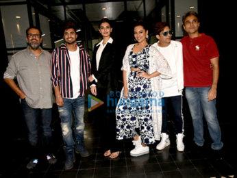 Cast of Happy Phirr Bhag Jayegi promote their film