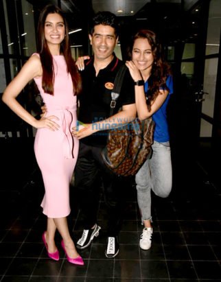 Cast of Happy Phirr Bhag Jayegi snapped during promotions