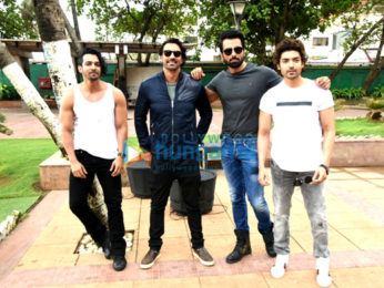 Cast of Paltan snapped during promotions