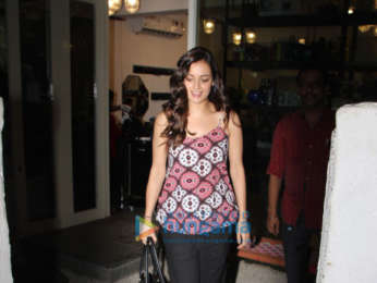 Dia Mirza spotted at BBlunt salon