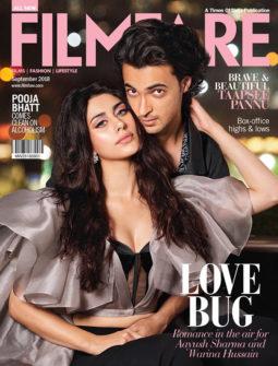 Warina Hussain, Aayush Sharma On The Cover Of Filmfare, September 2018