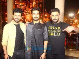 Gold cast Amit Sadh, Vineet Kumar Singh and Sunny Kaushal snapped at Chhatrapati Shivaji Maharaj Terminus for India Turns Gold event
