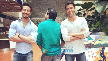 On The Sets Of The Movie Hrithik Roshan and Tiger Shroff's untitled next