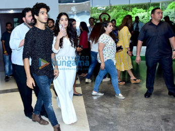 Ishaan Khatter and Janhvi Kapoor snapped at Whistling Woods