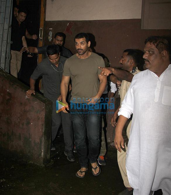 John Abraham and Manoj Bajpayee snapped at Gaiety after watching Satyameva Jayate