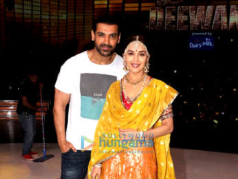 John Abraham promotes his film Satyameva Jayate on the sets of Dance Deewane
