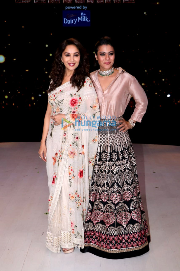 Kajol and Madhuri Dixit snapped on the sets of Dance Deewane