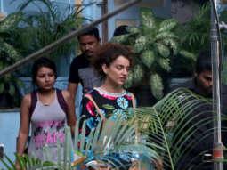 Kangana Ranaut spotted at Bandra for movie shoot 'Mental Hai Kya'