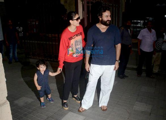 Kareena Kapoor Khan, Saif Ali Khan and Taimur Ali Khan snapped at Kunal Khemu's residence at Khar