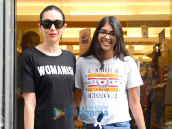 Karisma Kapoor snapped with her daughter at a book store