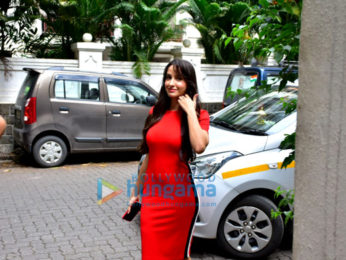Nora Fatehi snapped at Maddock Films' office in Bandra