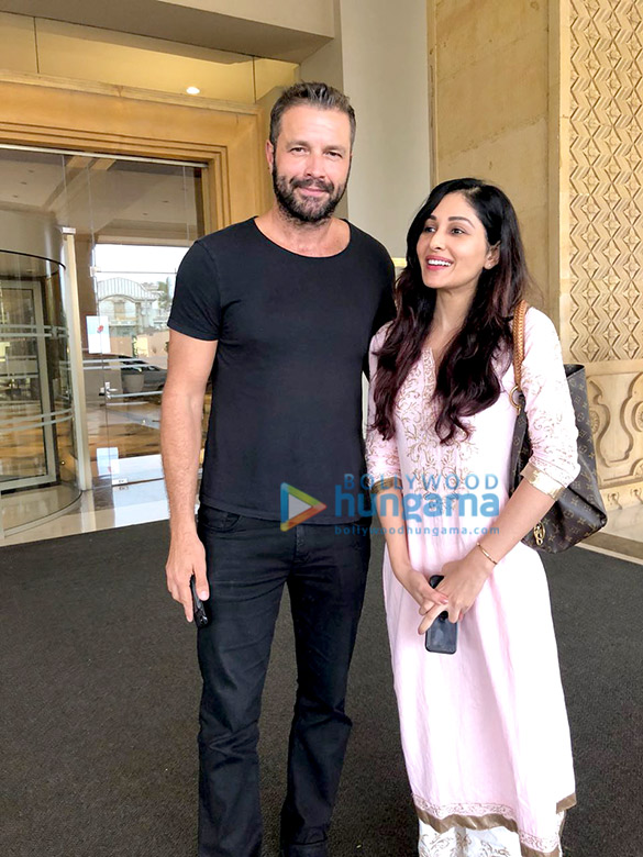 Pooja Chopra snapped with Hollywood actor Tony Schiena