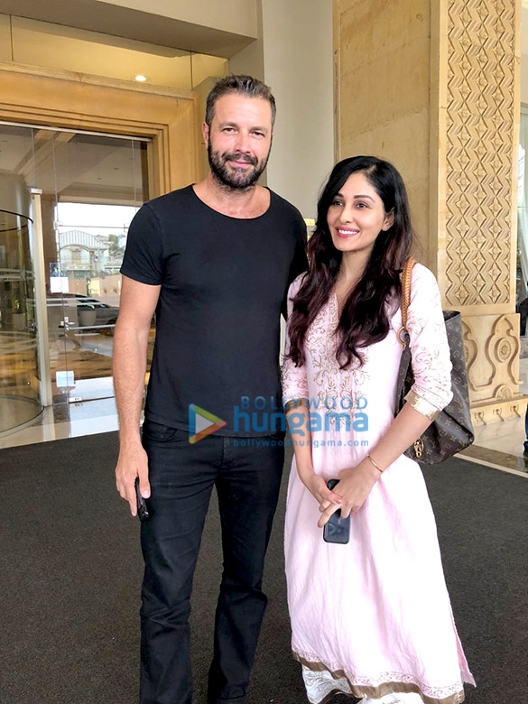 Pooja Chopra snapped with Hollywood actor Tony Schiena