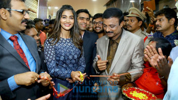 Pooja Hegde inaugurates Carnival Cinemas' 3-screen multiplex at Ravi Priya Mall in Ongole, Andhra Pradesh