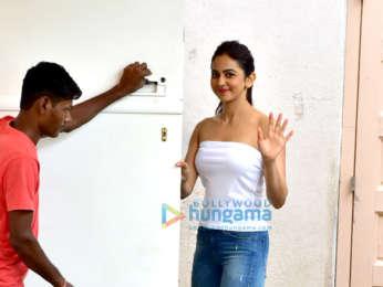 Rakul Preet Singh snapped at Meheboob Studio after a photoshoot