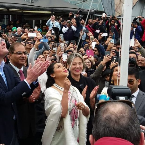 EXCLUSIVE: Rani Mukerji hoists the Indian National Flag in Melbourne [watch video]