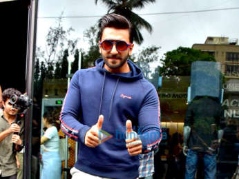 Ranveer Singh snapped at the Jack and Jones store in Bandra