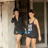 Rhea Chakraborty and Shibani Dandekar snapped at the gym