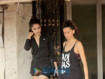 Rhea Chakraborty and Shibani Dandekar snapped at the gym
