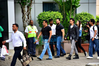 Salman Khan, Aayush Sharma, Warina Hussain and others snapped at the Kalina airport