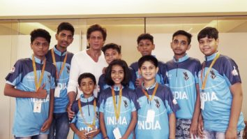 Shah Rukh Khan meets childhood cancer survivors who will represent India at the World Children's Winners games 2018 in Moscow feature