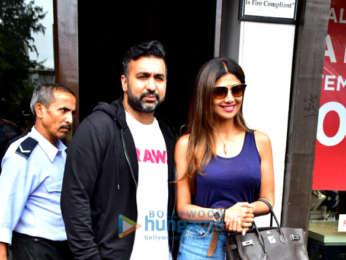 Shilpa Shetty and Raj Kundra spotted at Bastian in Bandra
