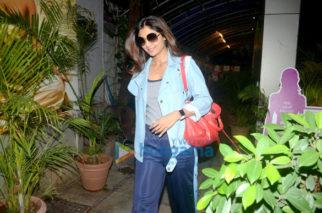 Shilpa Shetty snapped at a salon in Khar