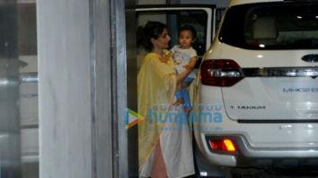 Soha Ali Khan snapped with her daughter Innaya in Bandra