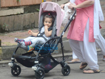 Soha Ali Khan's daughter Inaaya Naumi snapped out and about in Mumbai