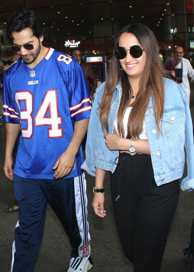 Varun Dhawan and rumoured girlfriend Natasha Dalal strike a pose in London
