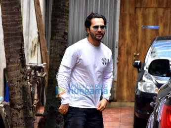 Varun Dhawan spotted at a clinic in Bandra