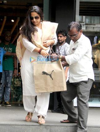 Vidya Balan spotted at the Puma store in Khar