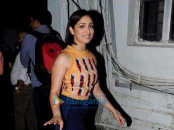 Yami Gautam and Shahid Kapoor promote Batti Gul Meter Chalu at 98.3 FM Radio Mirchi office
