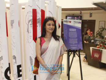 Abhishek Bachchan and Konkana Sen grace the inauguration of the Whistling Woods International '75 Frames' rare portrait collection of Amitabh Bachchan