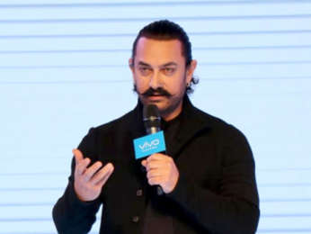 Aamir Khan snapped at VIVO 11 Pro launch