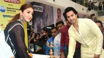 Anushka Sharma and Varun Dhawan grace the launch of Green Ganesha at Oberoi Mall