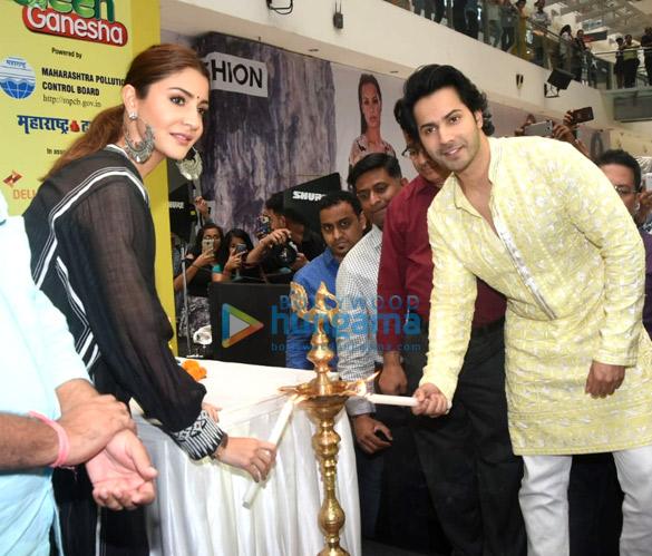 Anushka Sharma and Varun Dhawan grace the launch of Green Ganesha at Oberoi Mall | Parties & Events - Bollywood Hungama