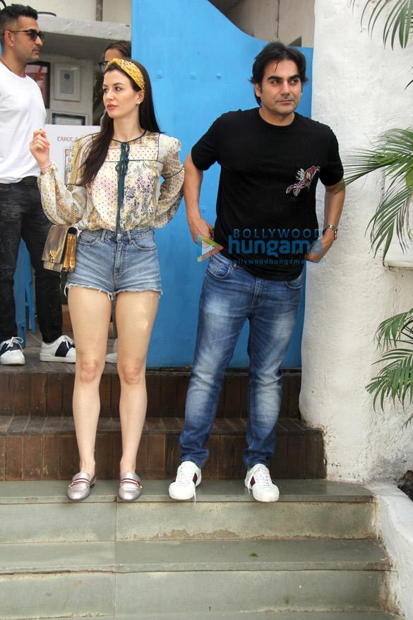 Arbaaz Khan and Amrita Arora snapped at Olive in Bandra (2)